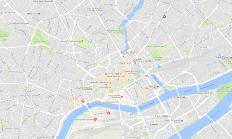 Carte du Web2Day PNF