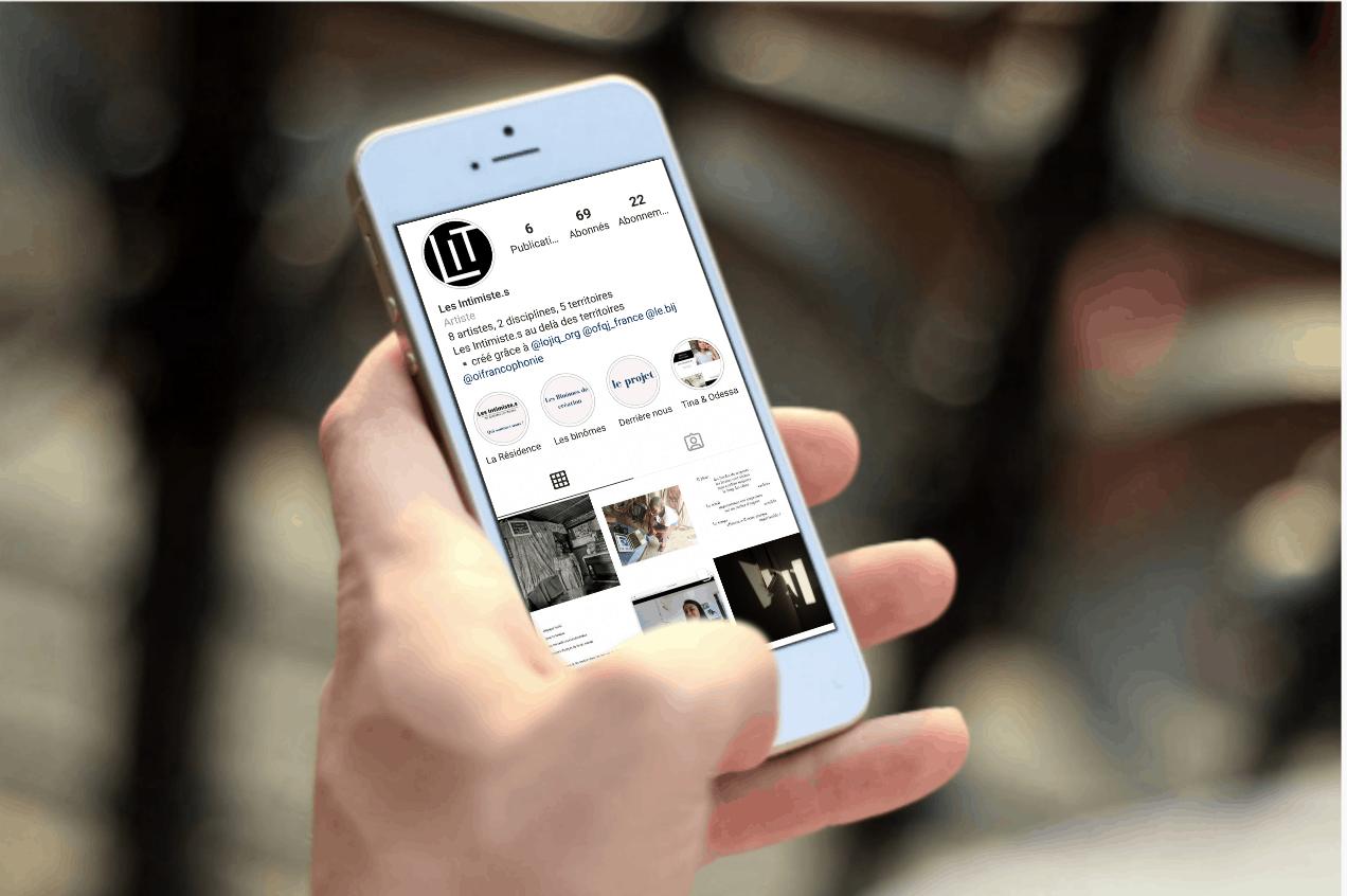 Un compte Instagram spécial pour la résidence virtuelle de co-création francophone